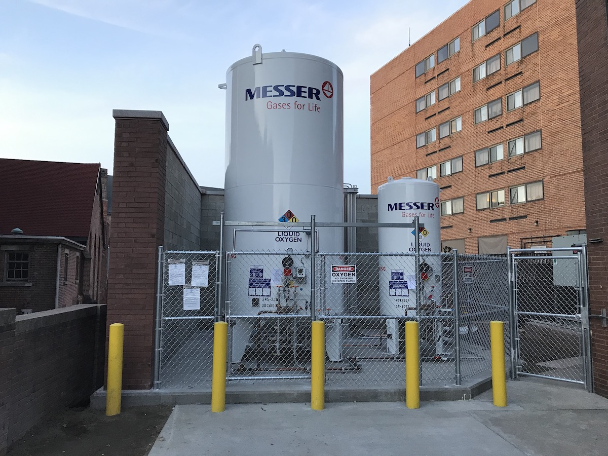 Messer Bulk Oxygen Delivery to Tank