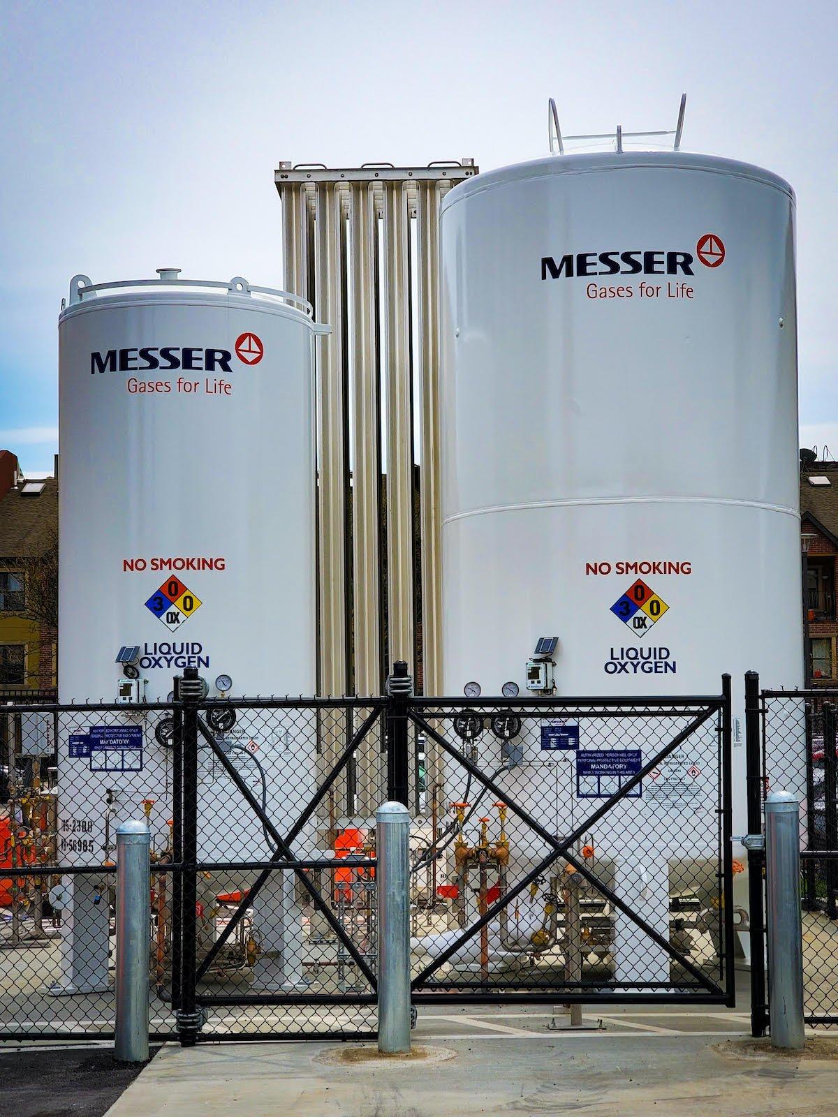Messer Medical Liquid Oxygen Tank