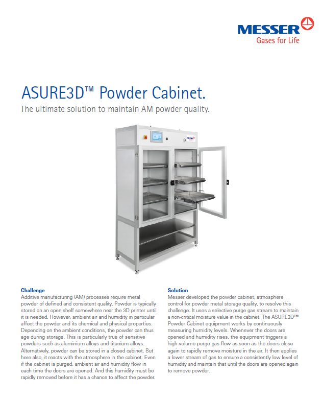 ASURE3D™ Powder Cabinet