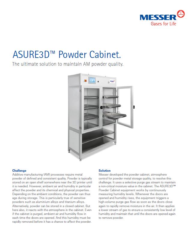 ASURE3D™ Powder Cabinet
