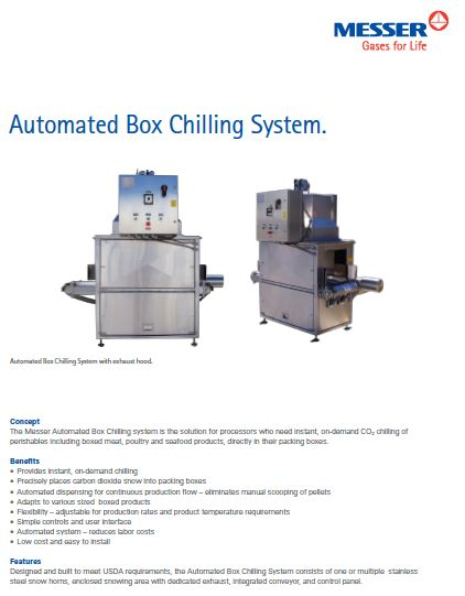 Messer's Automated Box Chilling System