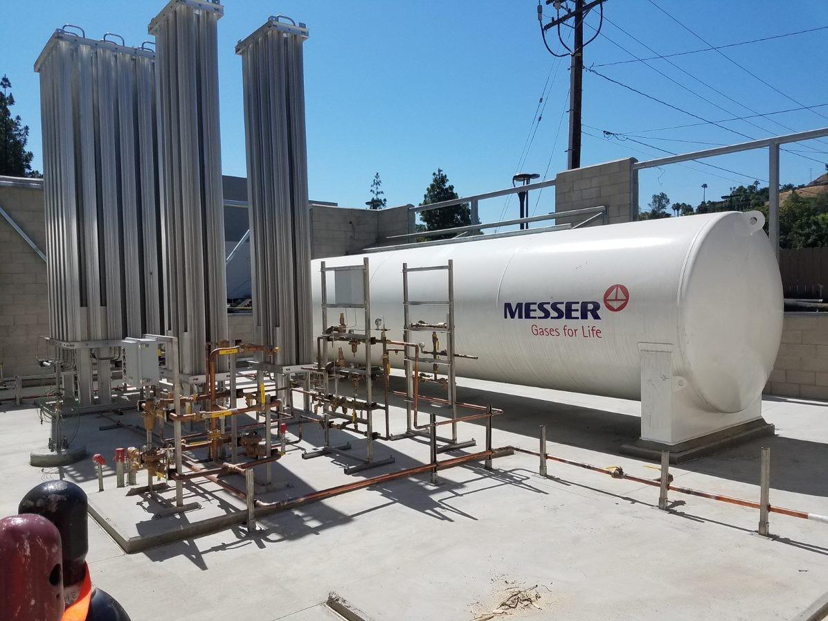 LLUMC Counts on Messer to Provide New Bulk Medical Oxygen Station