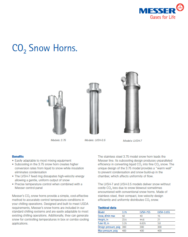 Messer CO₂ Snow Horns