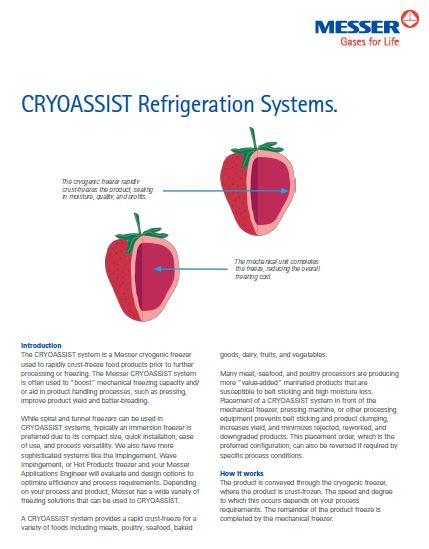 CRYOASSIST Refrigeration Systems