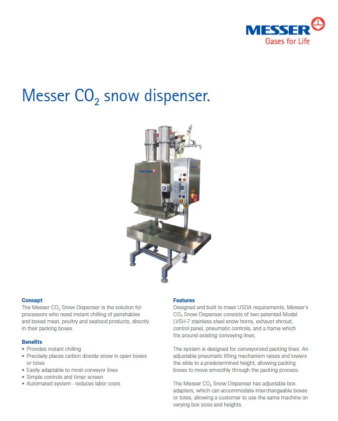 Messer's Snow Dispenser