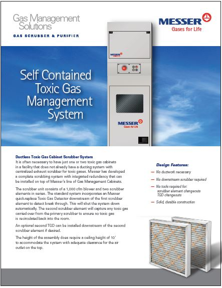 Ductless Toxic Gas Cabinet Scrubber System