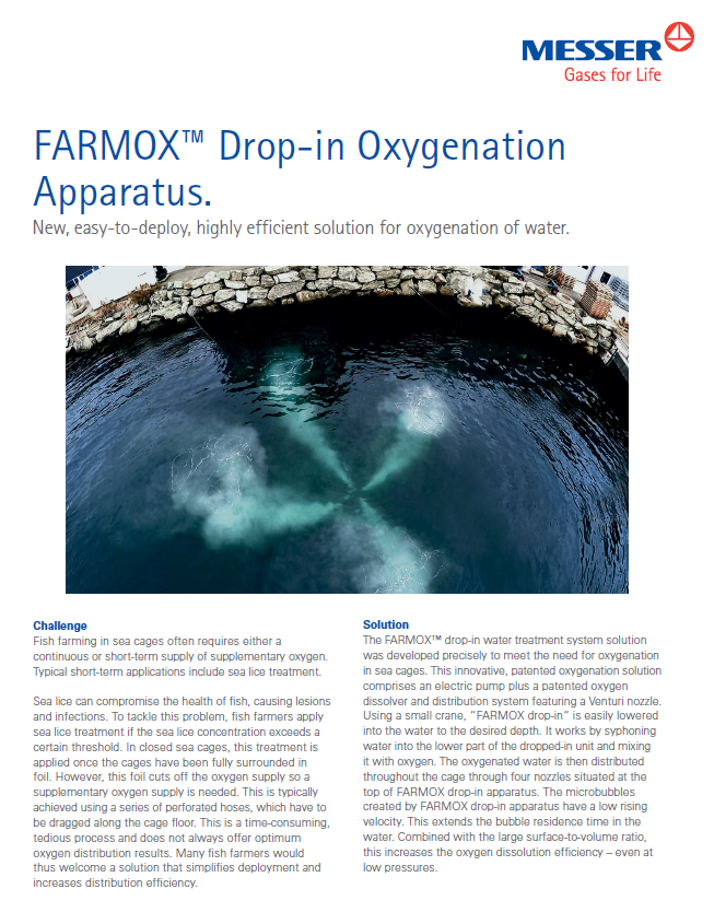 Farmox™ Drop-in Oxygenation Apparatus