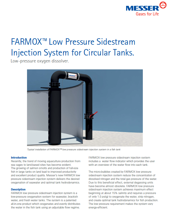 Farmox™ Low Pressure Sidestream Injection System
