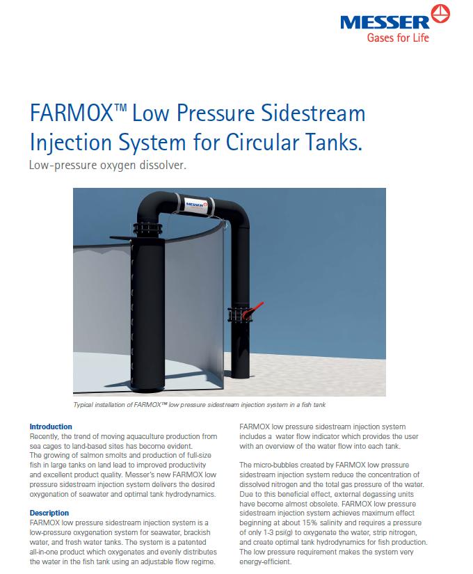 Farmox™ Low Pressure Sidestream Injection System