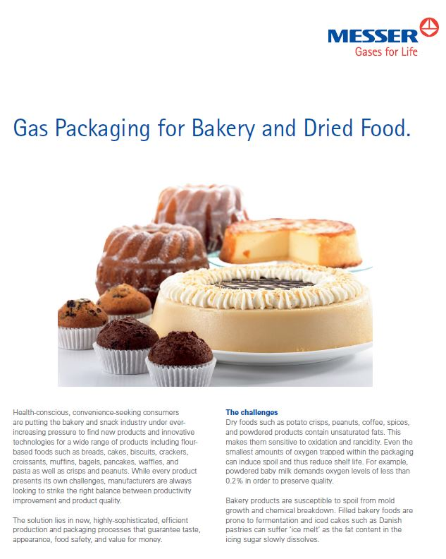 Gas Packaging for Bakery and Dried Food