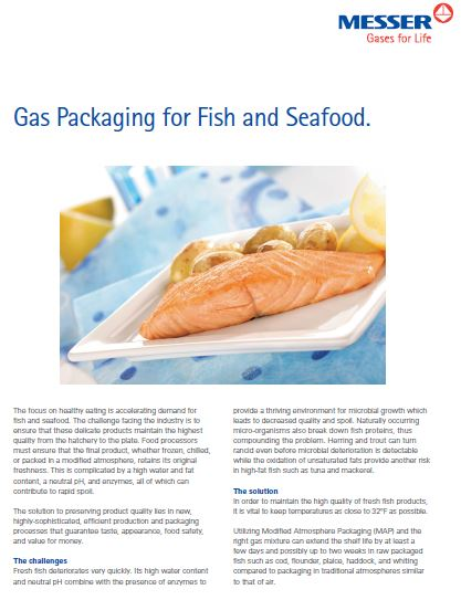 Gas Packaging for Fish and Seafood