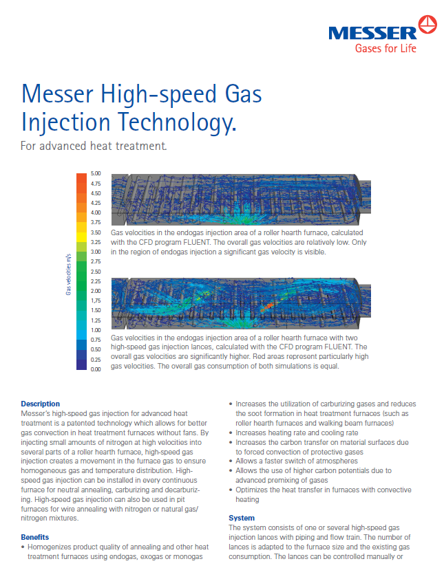 Messer's High-Speed Gas Injection Technology