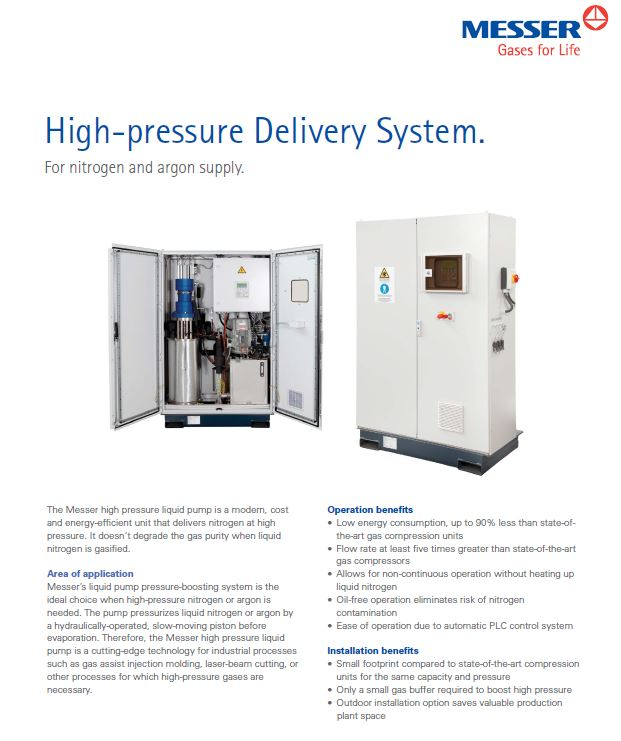 High-pressure Delivery System