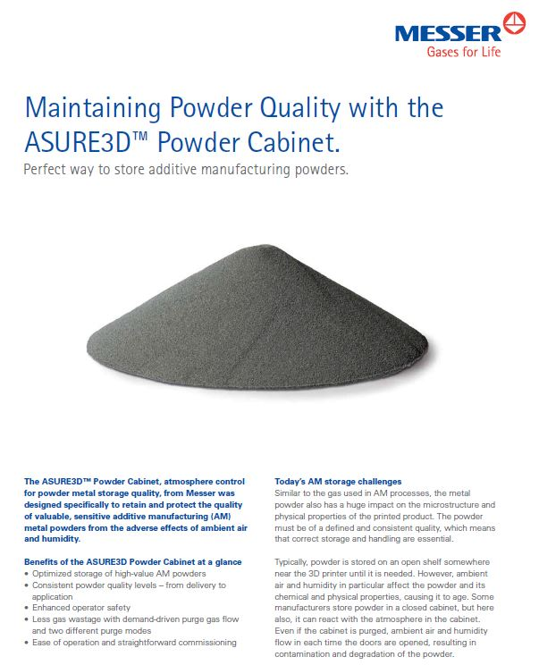 Maintaining Powder Quality with the ASURE3D™ Powder Cabinet