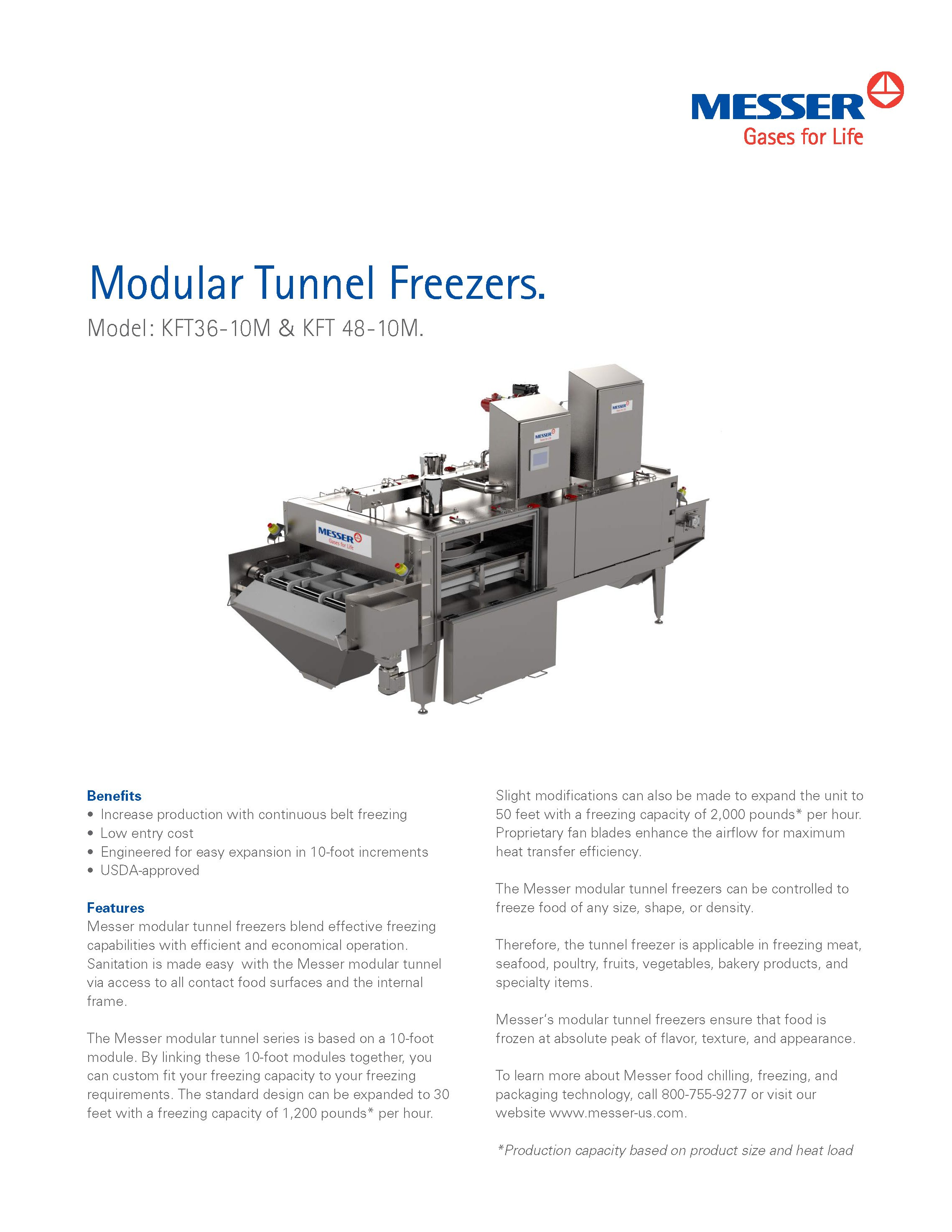 Messer's Modular Tunnel Freezer