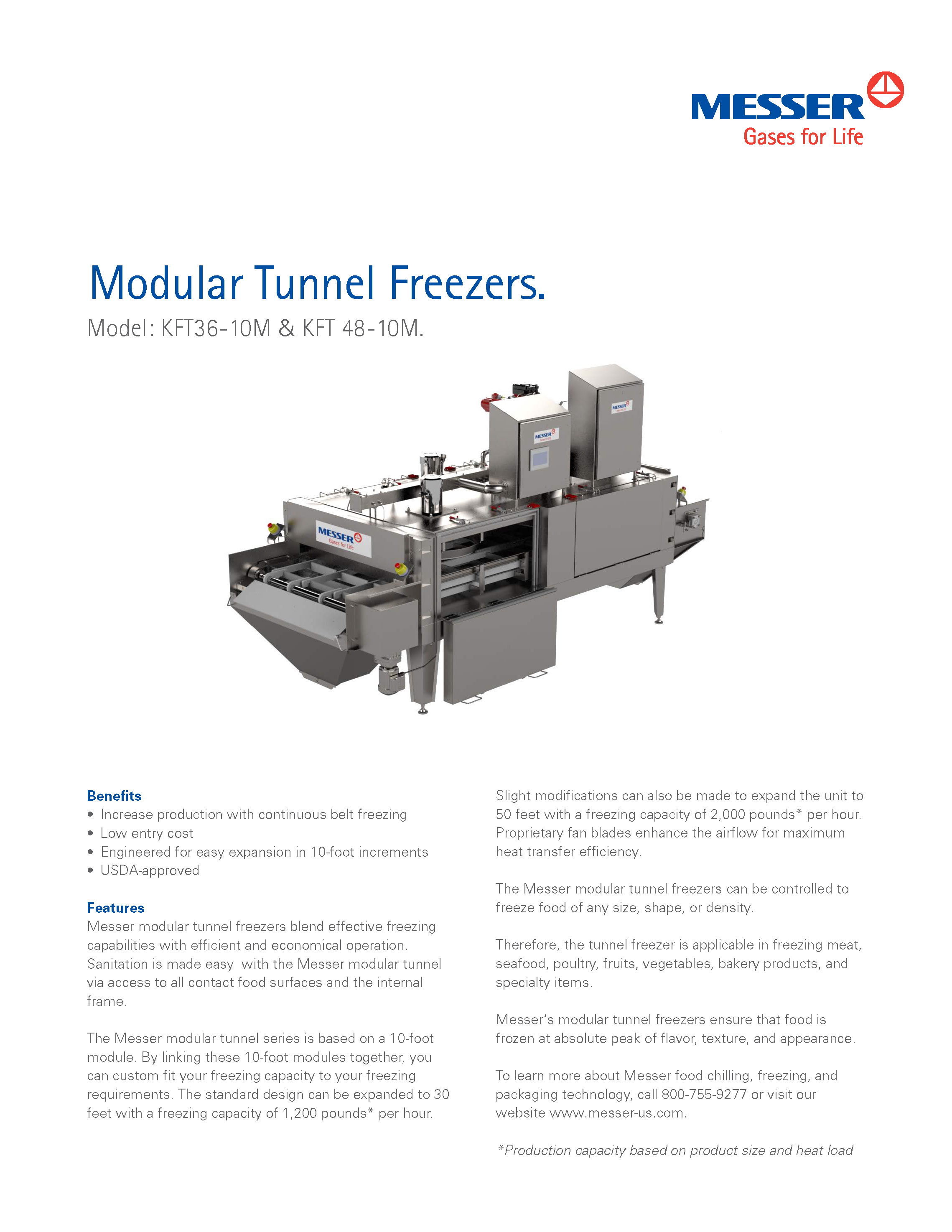 Messer's Modular Tunnel Freezer