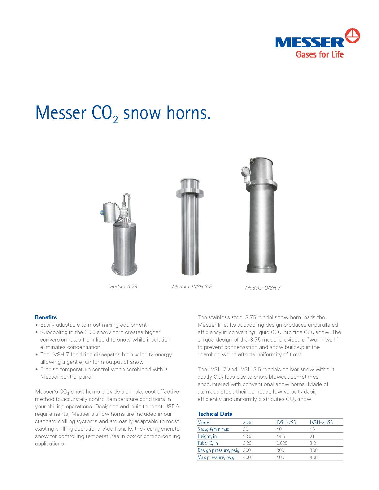 Messer CO₂ Snow Horns
