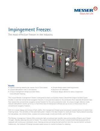 Impingement Freezer