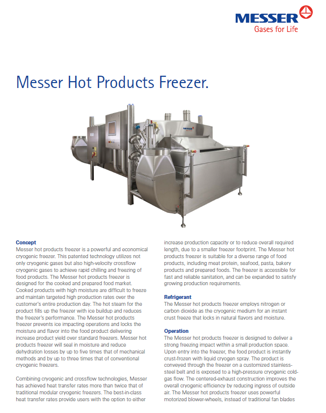 Messer's Hot Products Freezer