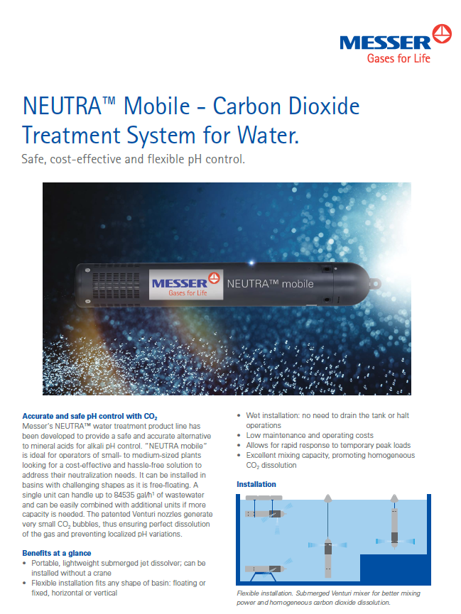 NEUTRA™ Mobile - Carbon Dioxide Treatment System for Water
