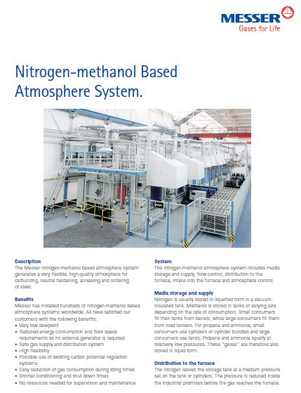 Nitrogen-methanol Based Atmosphere System