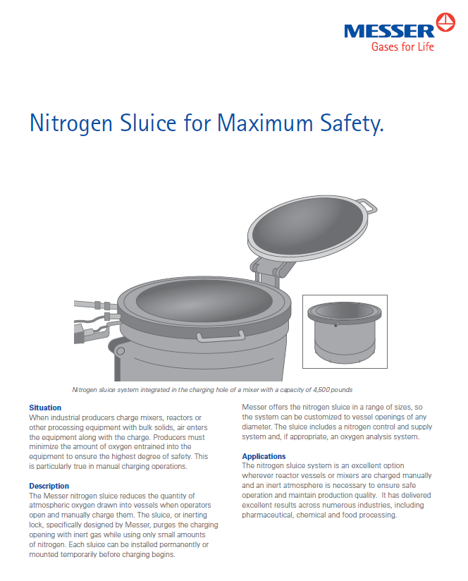 Messer's Nitrogen Sluice for Maximum Safety