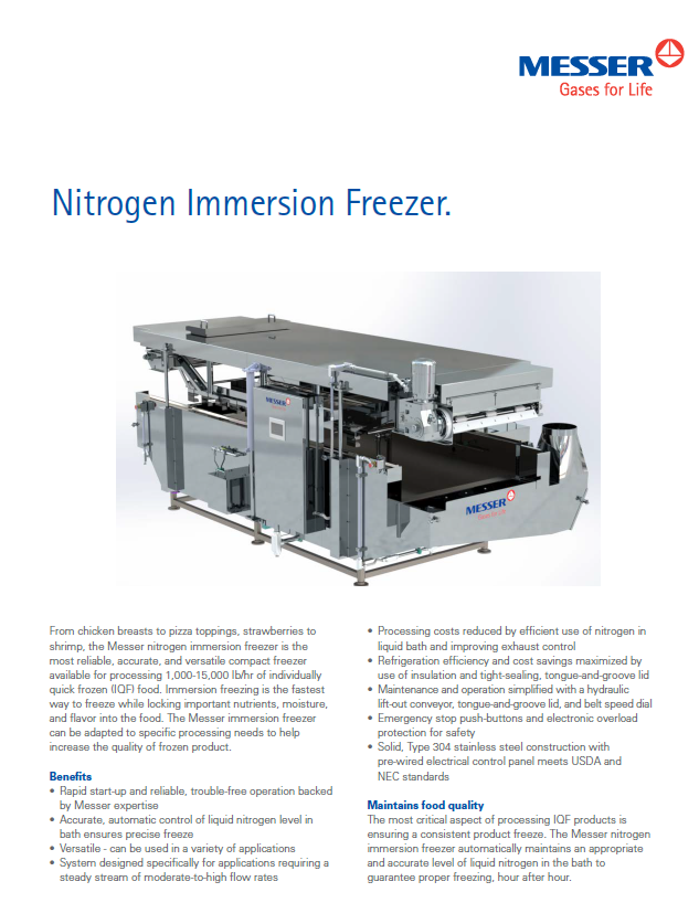 Nitrogen Immersion Freezer