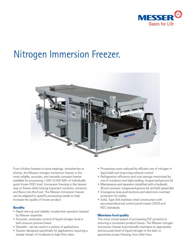 Nitrogen Immersion Freezer