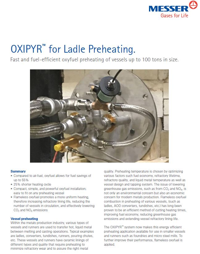 OXIPYR™ for Ladle Preheating