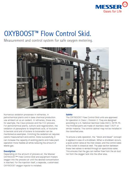 OXYBOOST™ Flow Control Skid