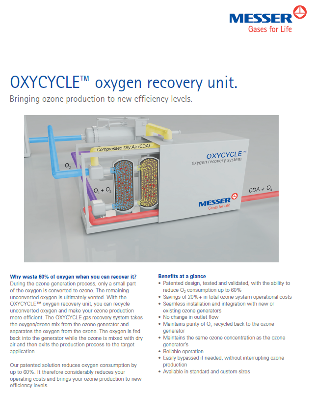 Messer's OXYCYCLE™ Oxygen Recovery Unit