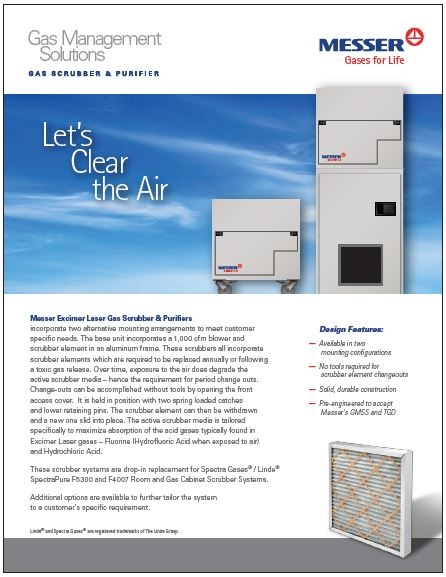 Excimer Laser Gas Scrubber & Purifiers
