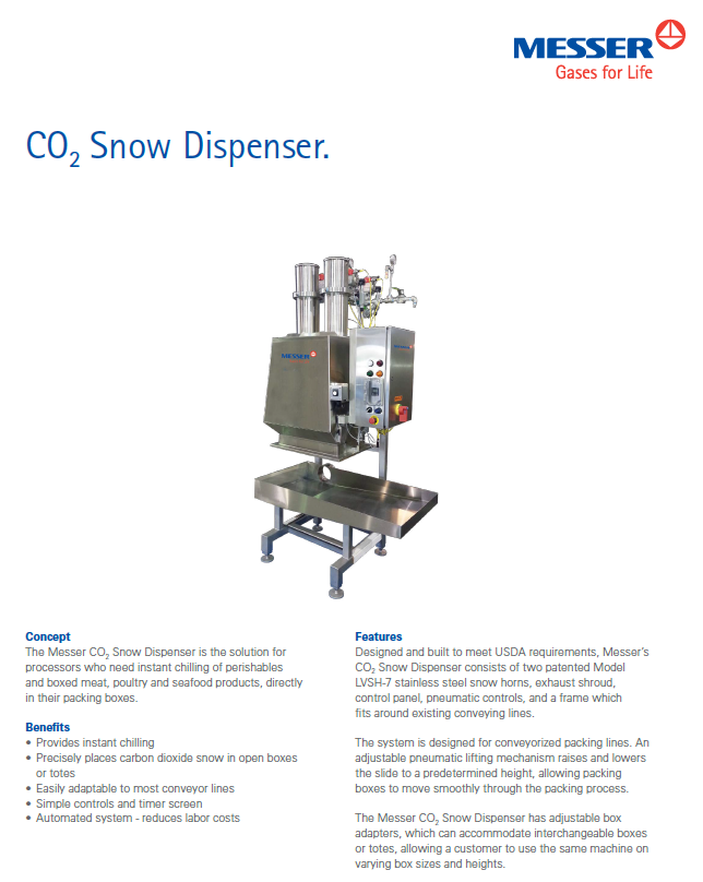 Messer's Snow Dispenser