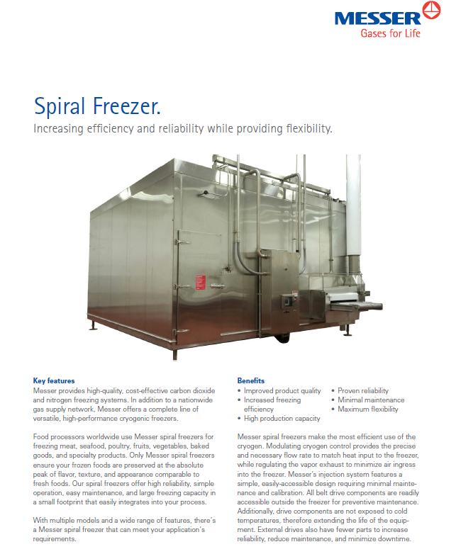 Messer's Spiral Freezer