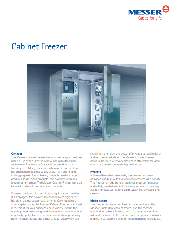 Messer's Cabinet Freezer