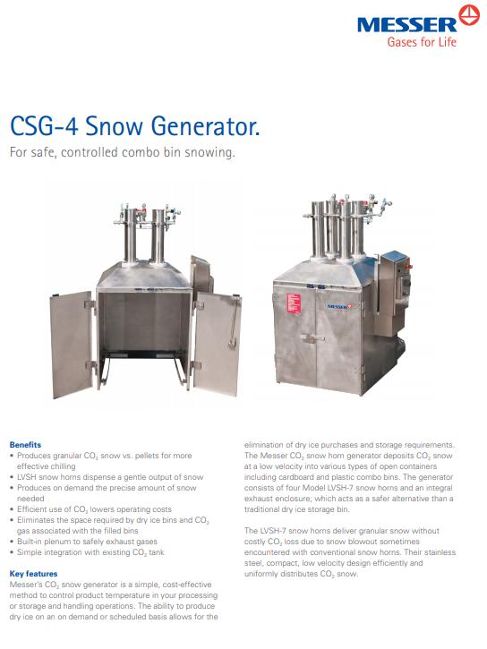 Messer's CSG-4 Snow Generator
