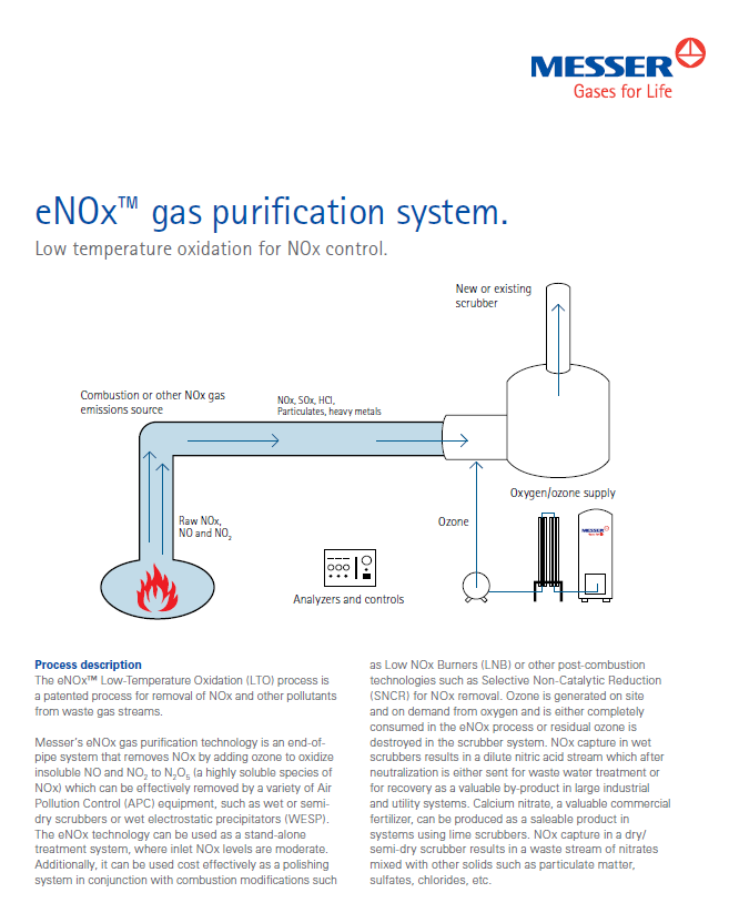 Messer's eNOx™ Gas Purification System