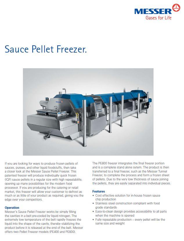 Messer's Sauce Pellet Freezer